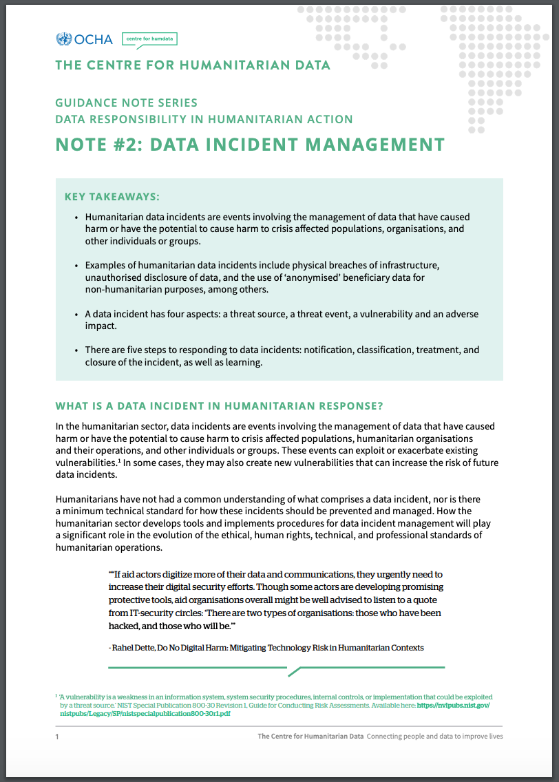 Data Incidents: Design With Responsibility in Mind - Digital